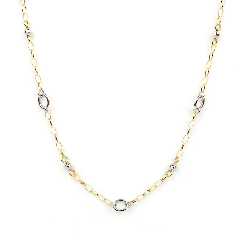 outlet 57d59 b91fe Collana donna girocollo oro giallo e oro bianco