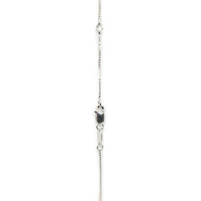 Collana croce diamanti girocollo donna in oro bianco tit 750 (18 kt)