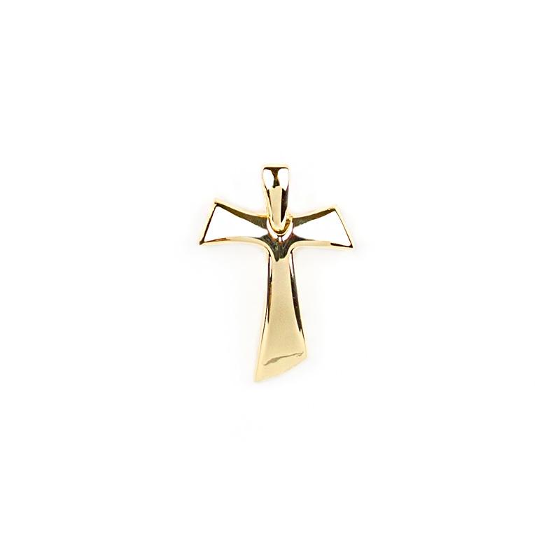 più amato c09ce 382b8 Croce Tau bombata in oro giallo grande