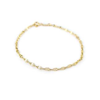 Bracciale uomo in oro giallo 750, lineare, composto da catena tonda a canna vuota, modello traversino, liscio e lucido; bracciale per uomo e ragazzo