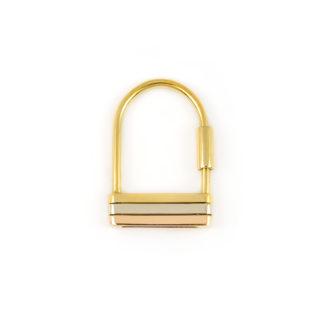 Portachiavi uomo oro, idea regalo portachiavi uomo in oro giallo, oro bianco e oro rosa tit 750 (18 kt) dimensione 2,50 x 4 cm